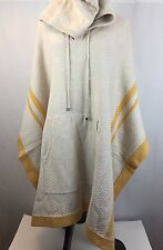 NWT $495 HAUTE HIPPIE Fallen Angel Yellow Hoodie Poncho Sweater - One Size