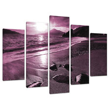 5 Piece Plum Purple Large Canvas Art Pictures Wall Prints Bedroom 5078