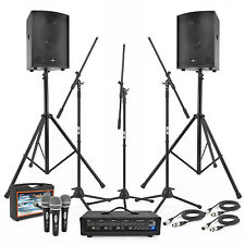 New 150W PA System Bundle with Stands and Mics