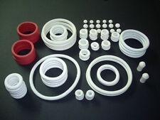 WHITE RUBBER RING KIT PINBALL ASSORTMENT SET GOMAS UNIVERSAL BLANCO
