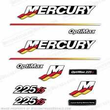 Mercury 225xs Optimax Racing Outboard Engine Decal Kit 2003 - 2004 225hp Decals