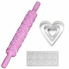 Valentine's day bundle fondant cutters rolling pin chocolat moule