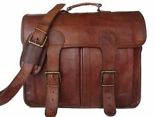 Men's Vintage Genuine Leather Briefcase Messenger Shoulder Bag Handbag Business