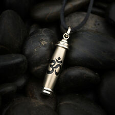 Mantra Yoga Jewelry Pendant Gold, Silver, and Black Lustre Finish