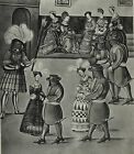 ANTIQUE PRINT MEDIEVAL KNIGHTS JOUSTING FREYDAL MAXIMILIAN I TOURNAMENT p140