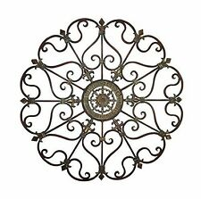 Home Interiors Medallion Metal Wall Art Decor Living Room Hangings Sculpture New