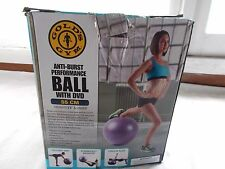 Gold's Gym Exercise Performance Ball 55 CM Anti - Burst + DVD + Hand Pump