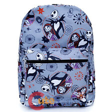 Nightmare Before Christmas Backpack NBC Jack Sally All Over Printed Book Bag