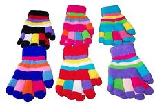 Fall Winter Girl Wool Blend Gloves  Assorted Colors Wholesale 6 Pairs (EGLV3064)