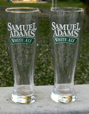 2 NEW SAMUEL SAM ADAMS WHITE ALE TALL BEER GLASSES 16 OZ