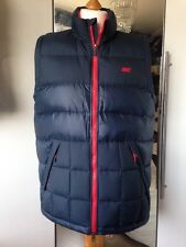 NWT Men's 550 Down Filled Gillet, Blue, Size L By NIKE