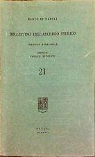 BANCO DI NAPOLI. BOLLETTINO DELL'ARCHIVIO STORICO (21) - FAUSTO NICOLINI - 1966