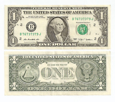 Fancy US Dollar FR $1 Bank Note   76 7373 79   Book Ends & Lucky 7's