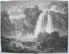 Wilhelm F Gmelin (1760-1820) Tivoli Wasserfall Roma Orig Kupferstich 1808 Italia
