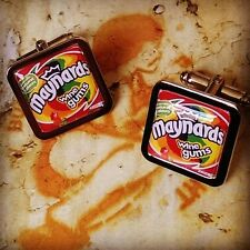 Unique! MAYNARDS WINE GUMS CUFFLINKS sweets RETRO tuck shop ORIGINAL wicked GIFT