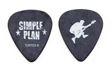 Simple Plan David Desrosiers Black Guitar Pick - 2011 Tour