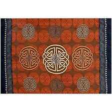 "Celtic Sarong/Altar Cloth 62"" x 45""   ~Brown"