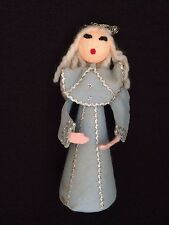 Vintage Caroler - Felt w/ Styrofoam - Christmas Figurine / Doll / Ornament CROWN