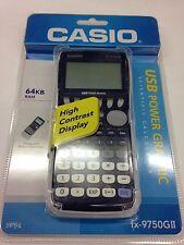 Casio Original New In Box FX-9750GII Graphic Calculator USB POWER SCIENTIFIC