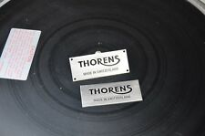 Thorens Switzerland Badge for Thorens custom Plinth Silver with black lettering
