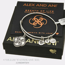 Authentic Alex and Ani Breath Of Life Rafaelian Silver Charm Bangle