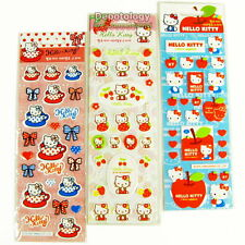 3 Sheets of Hello Kitty Puffy Marshmallow Cushion Sponge Stickers Sanrio Korea