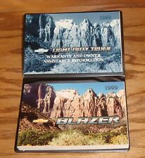 Original 1999 Chevrolet Blazer Owners Operators Manual First Edition 99 Chevy