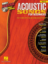 ACOUSTIC SONGS FOR BEGINNERS EASY GUITAR TAB PLAY ALONG SHEET MUSIC BOOK W/CD