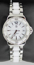 WAH1213.BA0861 TAG HEUER FORMULA 1 LADIES WHITE CERAMIC DIAMOND BEZEL WATCH