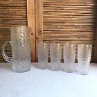Vintage IITTALA Paadar 2016 CRYSTAL Jug & 4 GLASSES Set TAPIO Wirkkala FINLAND