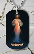"""DIVINE MERCY JESUS CHRIST HOLY SON OF GOD DOG TAG NECKLACE 30"""" FREE CHAIN -fgd4Z"""