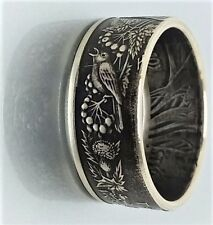 Handmade .Ukraine 2 Hryvni Flora and Fauna coin ring sizes 5-13
