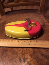 ANTIQUE VINTAGE TIN WORKING WIND UP TOY RACER  1920 -1930