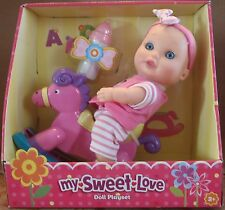 "My Sweet Love  9.5"" Baby Doll W/Riding HORSE & Accessories Playset - BRAND NEW"