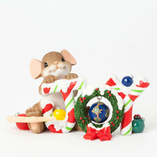 Charming Tails Joy to the World Mouse Figure 4041179 NEW Christmas