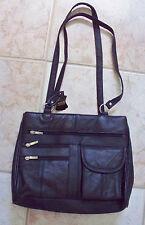 NEW NWT Classic Black  2 lg zip pocket Multi Pocket  HOBO PURSE TOTE BAG SACHEL