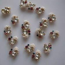 10pcs Crystal Rhinestone Dog Metal Deco Charms Nail Art MD-406