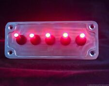 LED toggle switches - RED - w/  BILLET PLATE - RACING