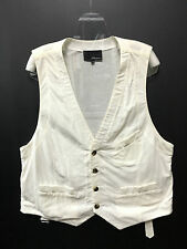 3.1 Phillip Lim Medium 100% Cotton Waist Belt White Suit Buttons Men Vest Top