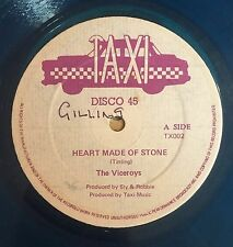 VICEROYS - HEART MADE OF STONE - TAXI ( ROOTS REGGAE 12 ) BLUE VINYL