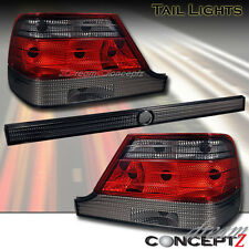 1997 1998 99 MERCEDES BENZ W140 S CLASS TAIL LIGHTS LAMPS RED SMOKE 3 PIECES