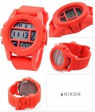 Neu! Nixon the Unit Rubber Red Rot Digital Silikon Uhr UVP*130€ A197-383