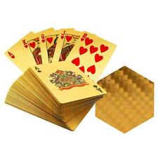 Hot Sale Playing Cards w/ 24K Gold Leaf and Geometric Design Full Deck Poker
