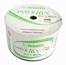 1000 RITEK RIDATA Blank DVD-R DVDR White Inkjet Printable 16X 4.7GB Media Disc