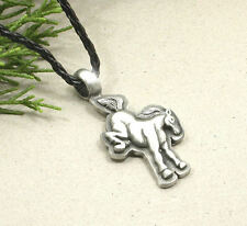 HORSE EQUESTRIAN JEWELLERY - FUNNY PEWTER BUCKING HORSE NECKLACE