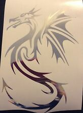 CHROME Tribal Dragon Laptop Car Sticker Decal Window Vinyl 21-14