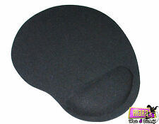 BLACK WRIST REST FOAM MAT OPTICAL MOUSE MICE PAD SUPPORT COMFORT FOR PC LAPTOP