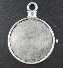 12pcs Tibetan Silver Clock Frame Charms 39x31mm 13609