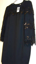 "DARLING ""TOAST OF CHARLESTON"" BLACK VINTAGE-STYLE DRESS size Large, NEW w/Tag"