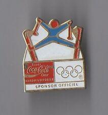 Pin's Coca cola sponsor officiel des Jeux olympiques / Ski